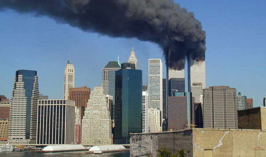 9/11: the Twin Towers aflame