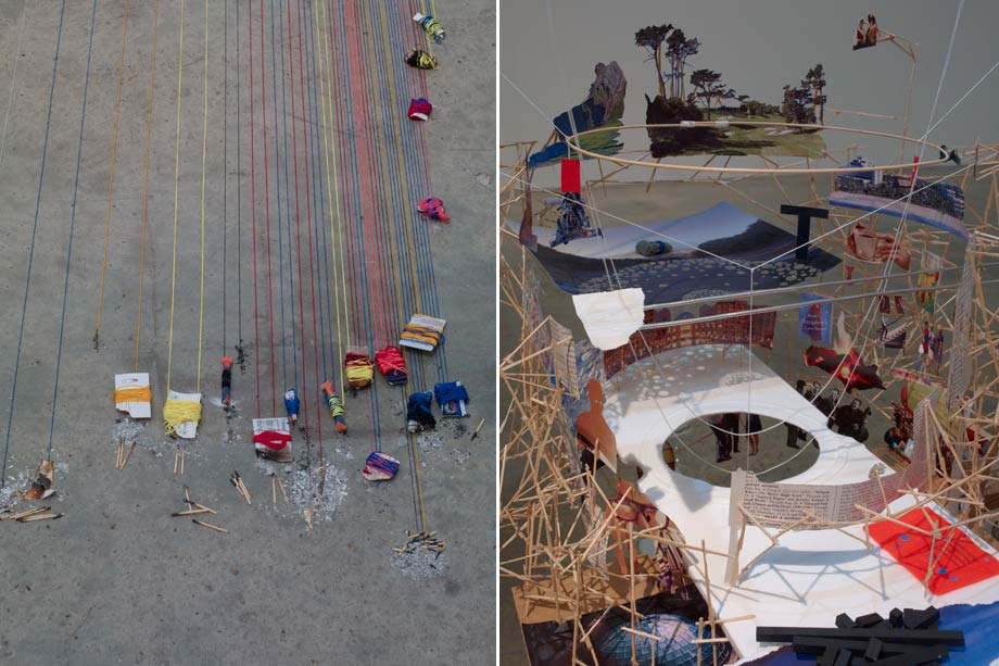 Left: Model for a Twin, 2012 Right: Model for a Diviner, 2012. All images are courtesy the Artist and Victoria Miro Gallery, London © Sarah Sze