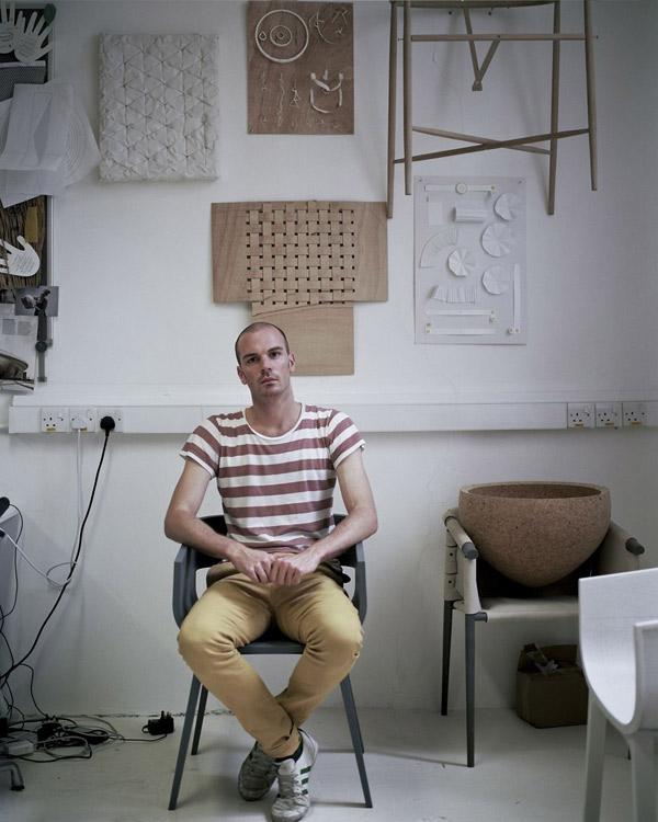 Benjamin Hubert in his studio