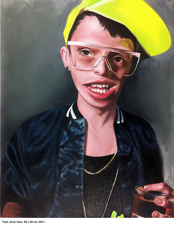 Yoof, by Nathan James. Oil on Canvas, 2012