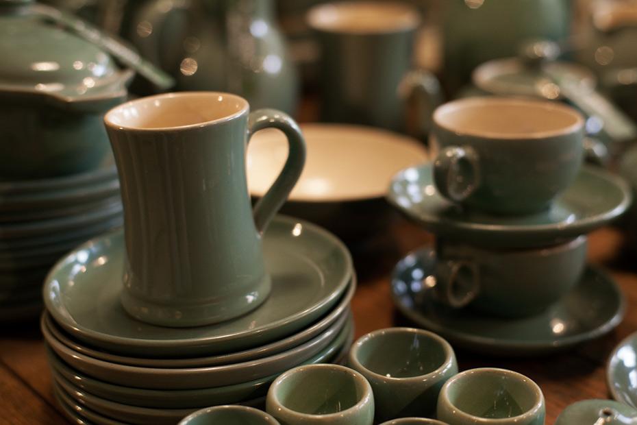 green-ceramics-tea-set