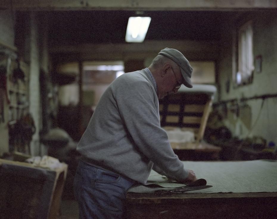 larry_master upholsterer AV Fowlds & Sons