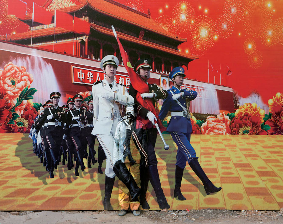 No. 99, Three Goddesses, 2012. Liu Bolin. From Hidden In The City. Courtesy of the artist and Galerie Paris-Beijing