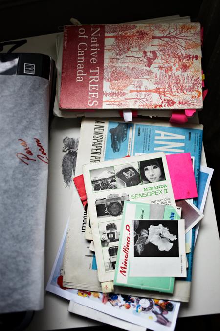 Books-and-photographs, Sara Cwynar studio Barbara Anastacio