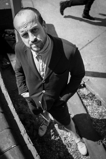 Matthew Herbert, B&W portrait, Robin Sinha