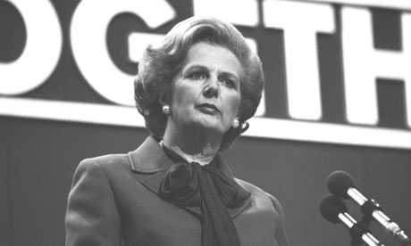 Margaret Thatcher as prime minister in 1980. Photograph: PA Archive