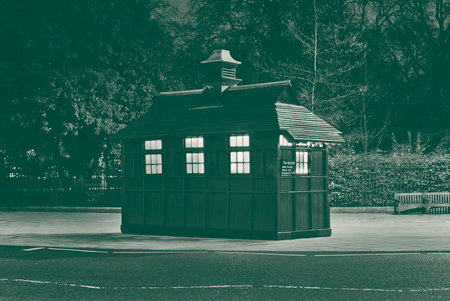 Cabmen's Shelter, Theo Simpson. Lesser Known Architecture, 2013. Courtesy of the artist and Design Museum
