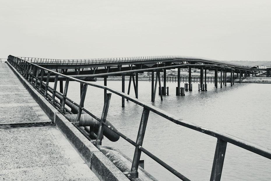Occidental Oil Refinery Jetty , Theo Simpson. Lesser Known Architecture, 2013. Courtesy of the artist and Design Museum