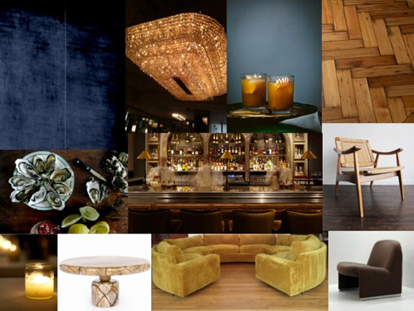 Members Bar Mood Board