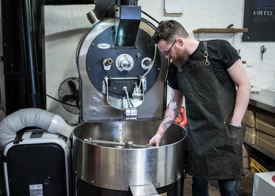Man standing at roaster