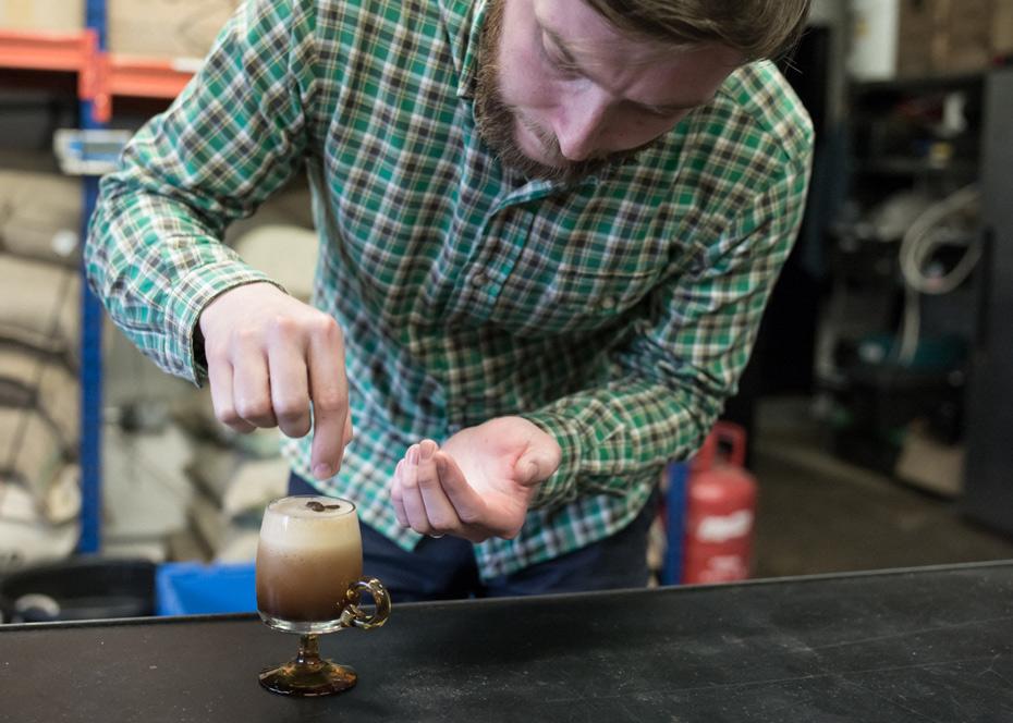 Jody Monteith making espresso martini