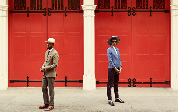 Martell Campbell - Fashion Blogger, Donya Patrice - Fashion Blogger © Dean Chalkley