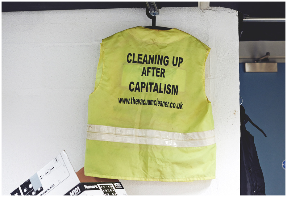 Cleaning-Up After Capitalism Tabard. Photography Liz Seabrook