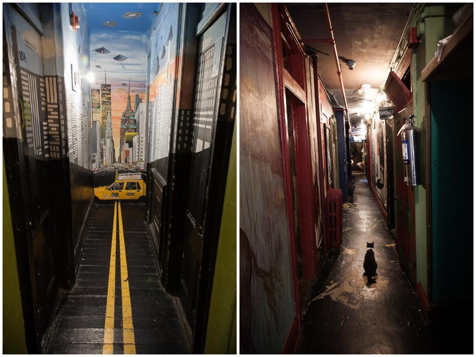 Reto Sterchi Carlton Arms panel, corridors