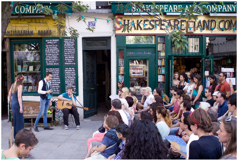 Shakespeare and Company. Photography Juliette Butler