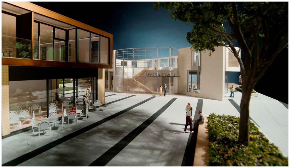 Putney Plaza 1:43 scale Courtyard model. 2013.  Art Estates. Richards Partington Architects. Photo Daniele De Paula.