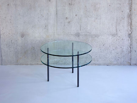 Sax side table by Terence Woodgate for SCP. On display at the exhibition