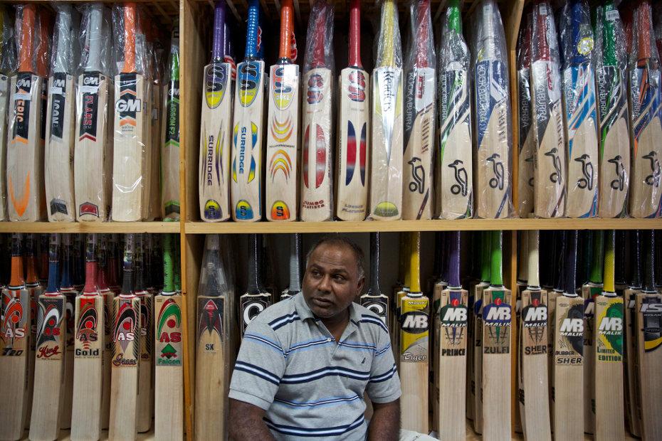 Ricky Singh, owner of Singh's Sporting Goods in Brooklyn