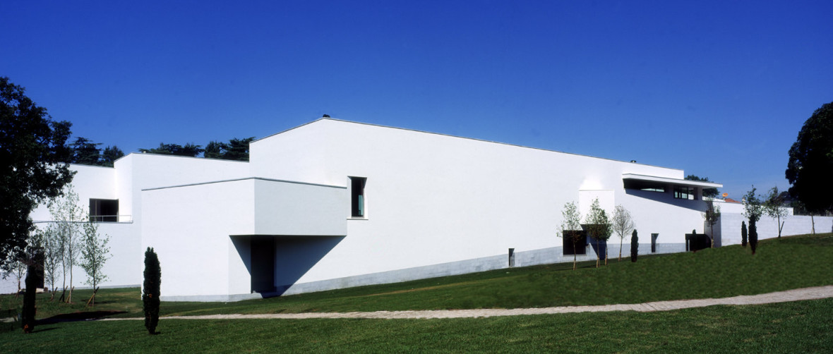 Serralves Museum Exterior Library Wall