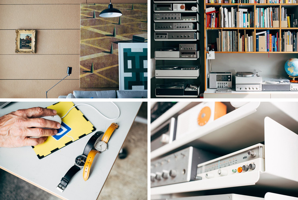 Inside Spiekermann's Berlin home, where he keeps a large collection of products created by industrial designer Dieter Rams