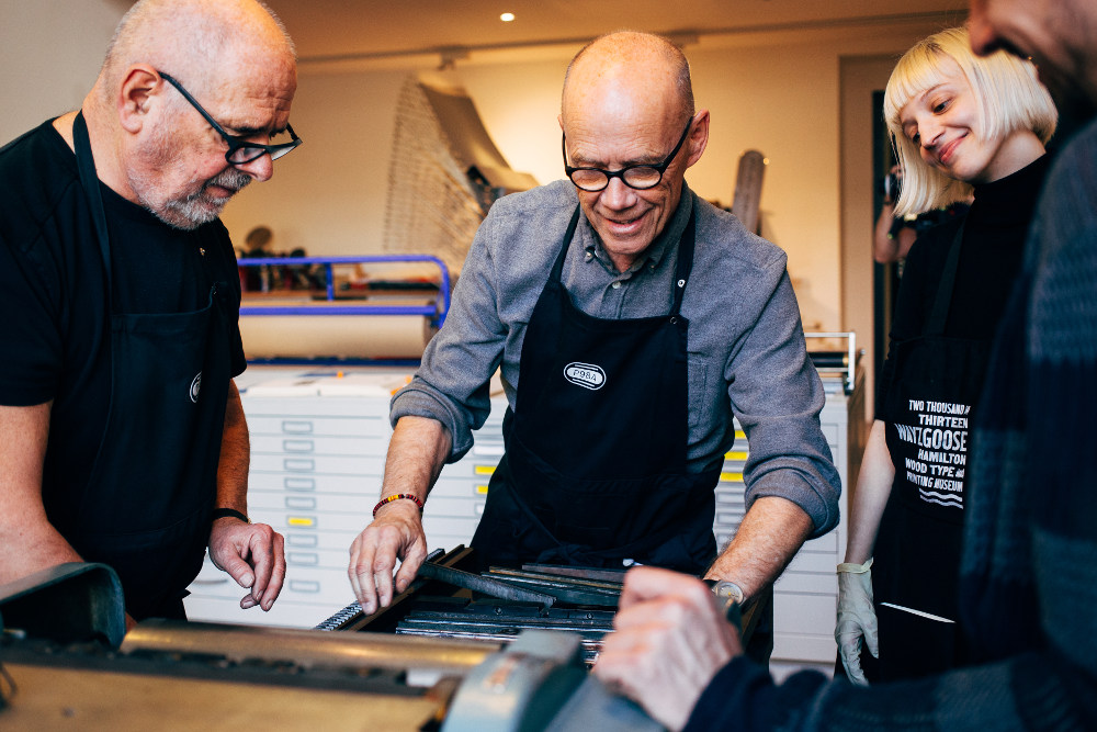 Madeleine Morley with Erik Spiekermann and Alexander Nagel