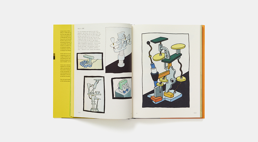 The mongraph features a large number of Irvine's colourful and often humorous sketches
