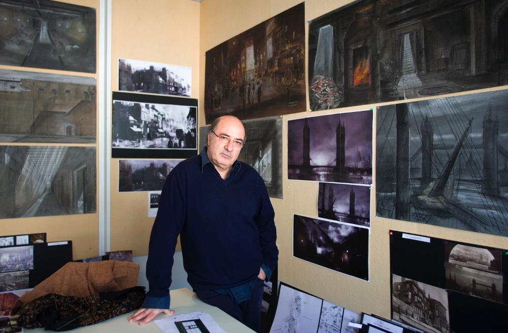 Dante Ferretti in his studio