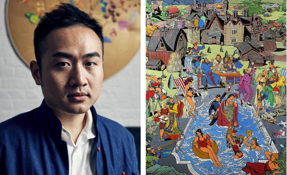 Left: Jacky Tsai – Right: The Romance at The Hamptons by Jacky Tsai. Image courtesy of the artist and The Fine Art Society