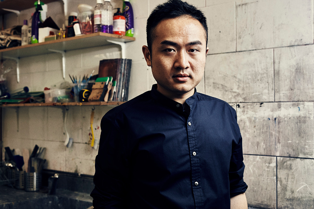Jack Tsai in his east London studio