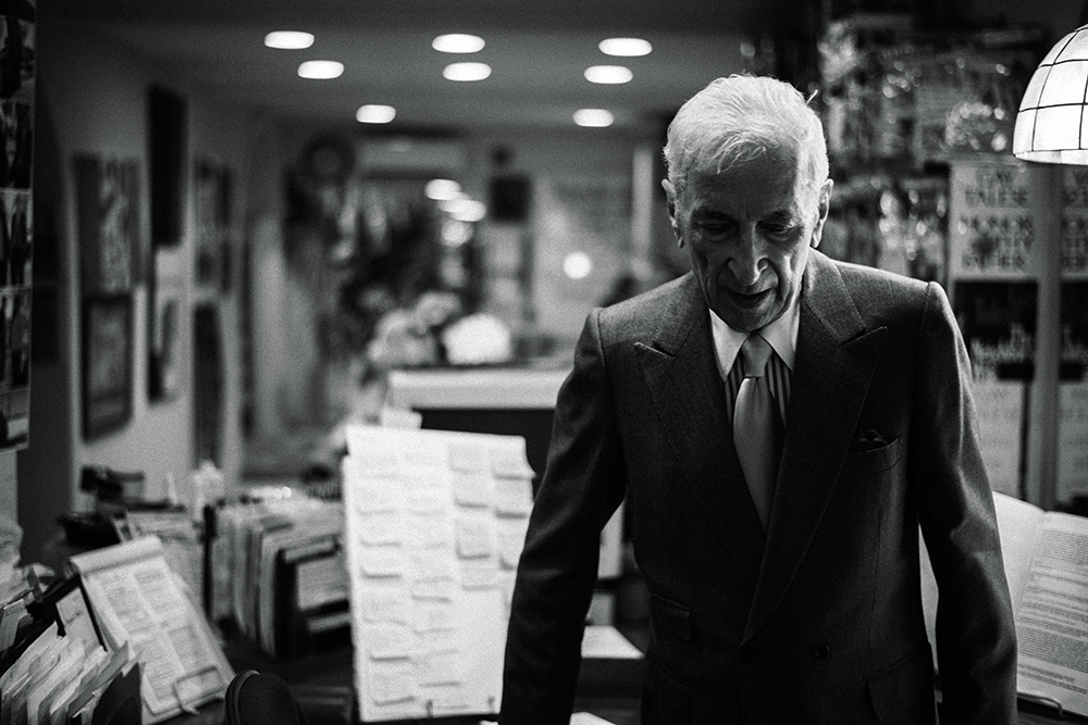 Gay Talese shot by Max Vadukul