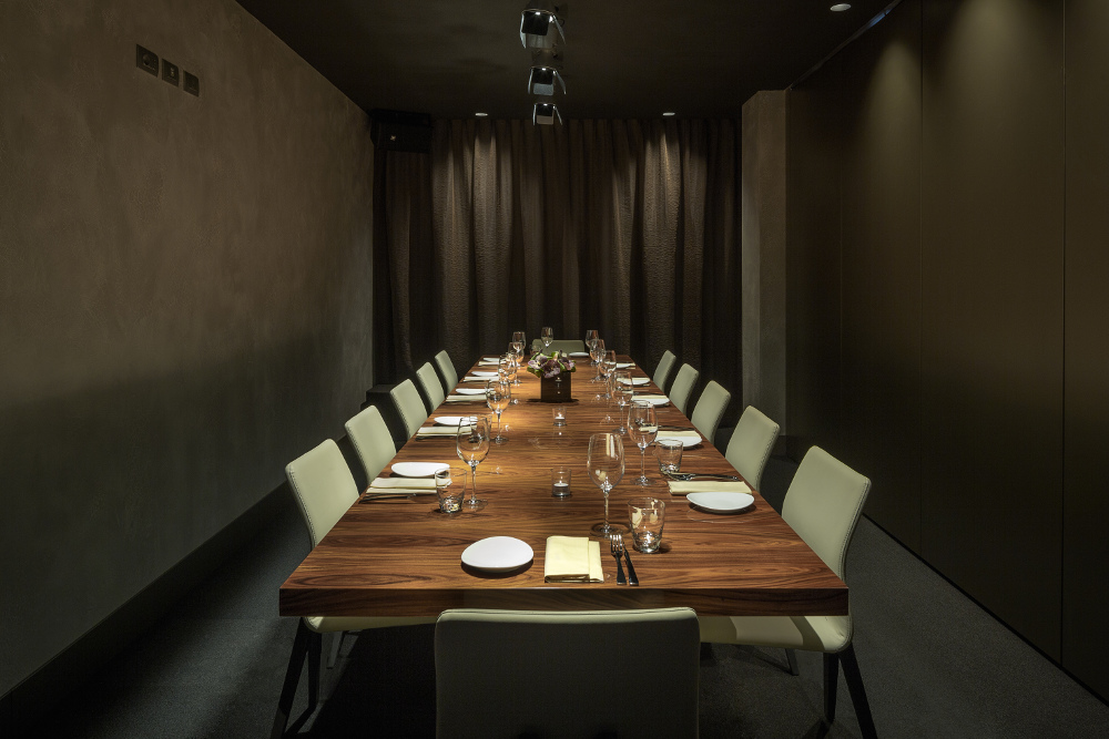 Private dining room at ME Milan Il Duca