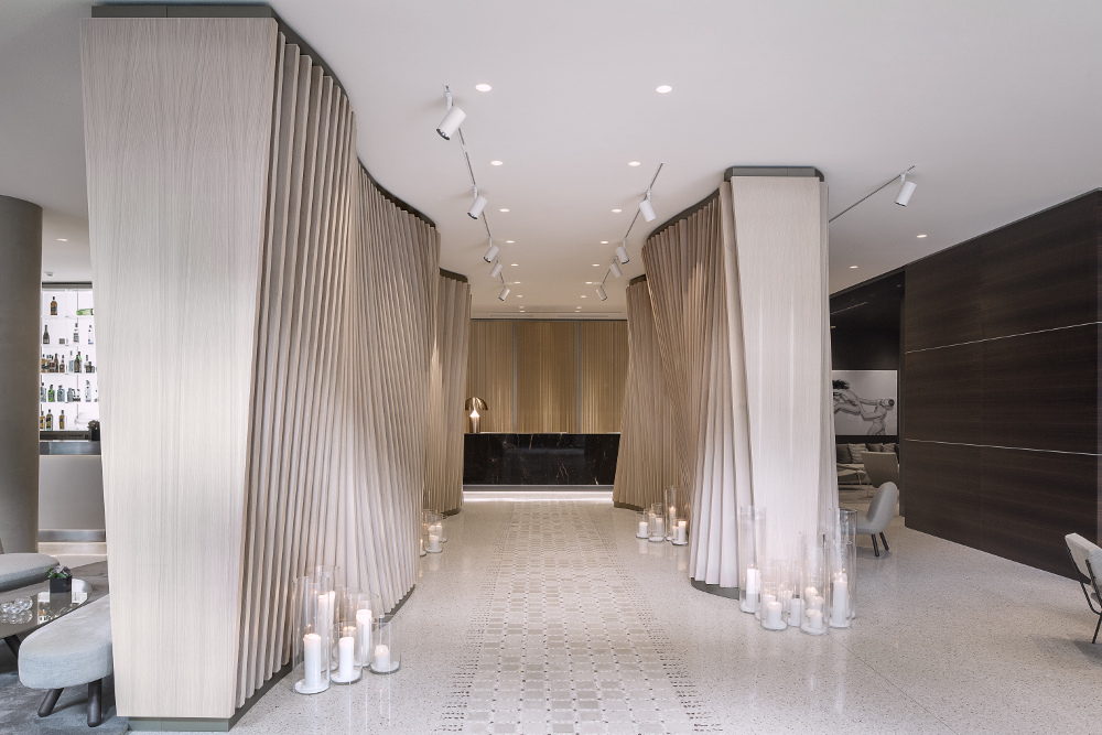 The newly refurbished lobby at ME Milan Il Duca