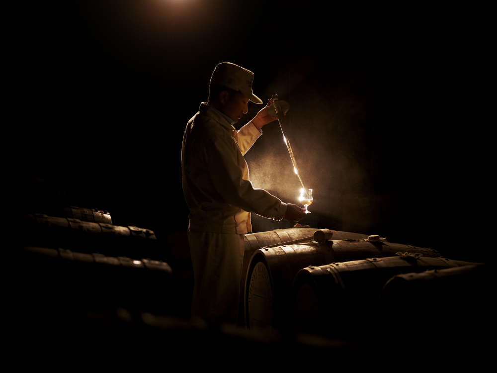 A member of the Suntory team at work