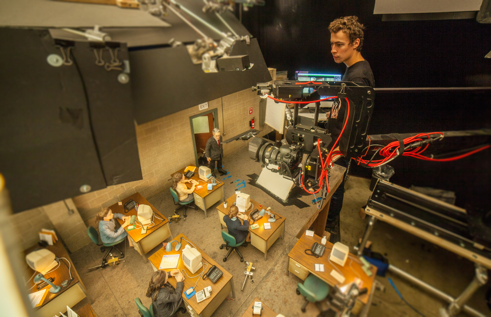 Animator, Dan Mackenzie on the set of the animated stop motion film, ANOMALISA, by Paramount Pictures Photo Credit: © 2015 Paramount Pictures.  All Rights Reserved.