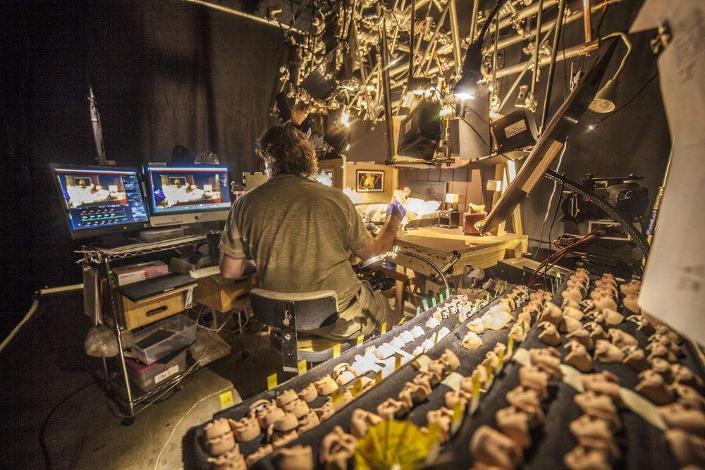 On the set of the animated stop motion film, ANOMALISA, by Paramount Pictures Photo Credit: © 2015 Paramount Pictures.  All Rights Reserved.