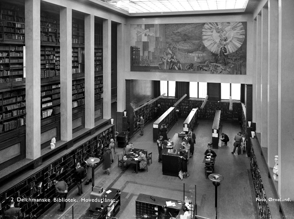 Deichman Main Library (1959). Photo: Leif Ørnelund © Oslo Museum