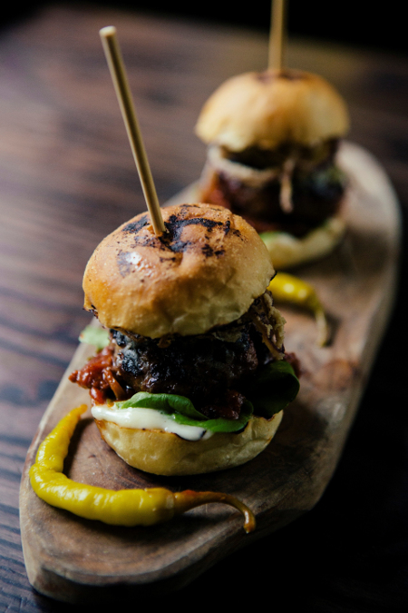 Smoked Basque burgers