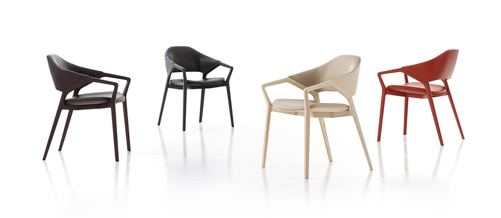 Ora Ito's 'Ico' chair for Cassina comes in four different colours