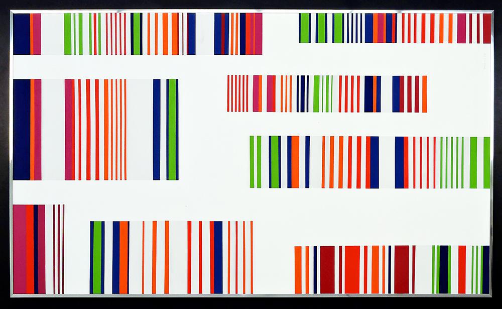 Ottavio Missoni, Untitled, 1973, 173x98 cm, acrylic on board