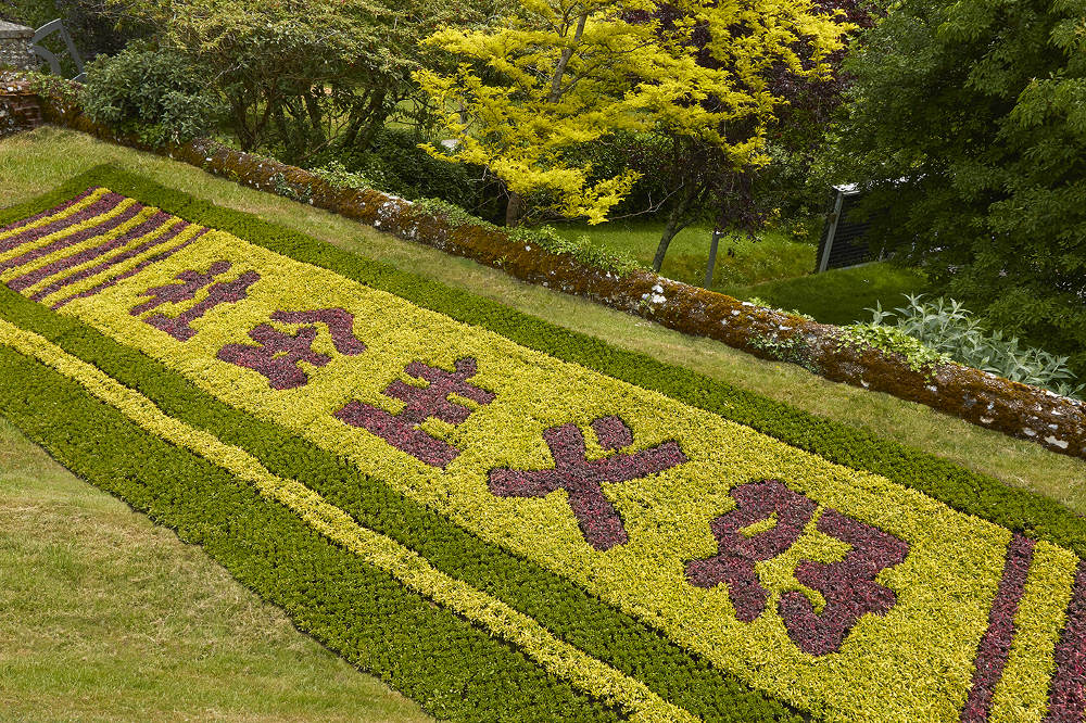 Zheng Bo, Socialism Good, Alternathera Plant (Joy Weed) Photo: Barney Hindle © Cass Sculpture Foundation