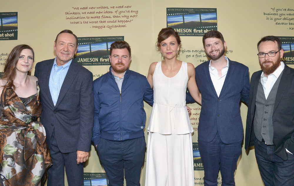 From left: Kat Wood, Kevin Spacey, Jason Perini, Maggie Gyllenhaal, Cameron Thrower and Dana Brunetti – Photo by Charley Gallay/Getty Images for Jameson / Pernod Ricard