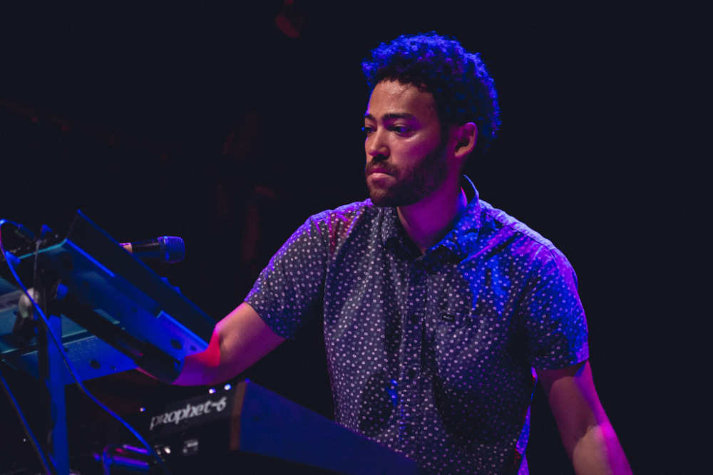 Taylor McFerrin performing at Dramuie's Brass and Crimson session in Oct 2016, at Hoxton Hall, London.