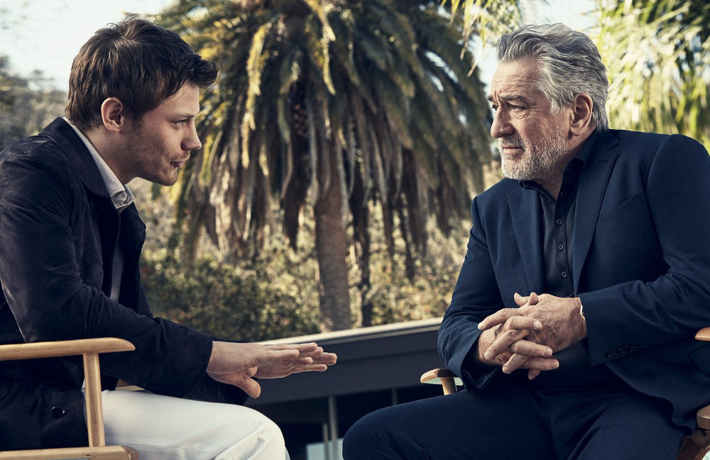 McCaul Lombardi and Robert De Niro in Ermenegildo Zegna's 'Defining Moments' SS17 campaign