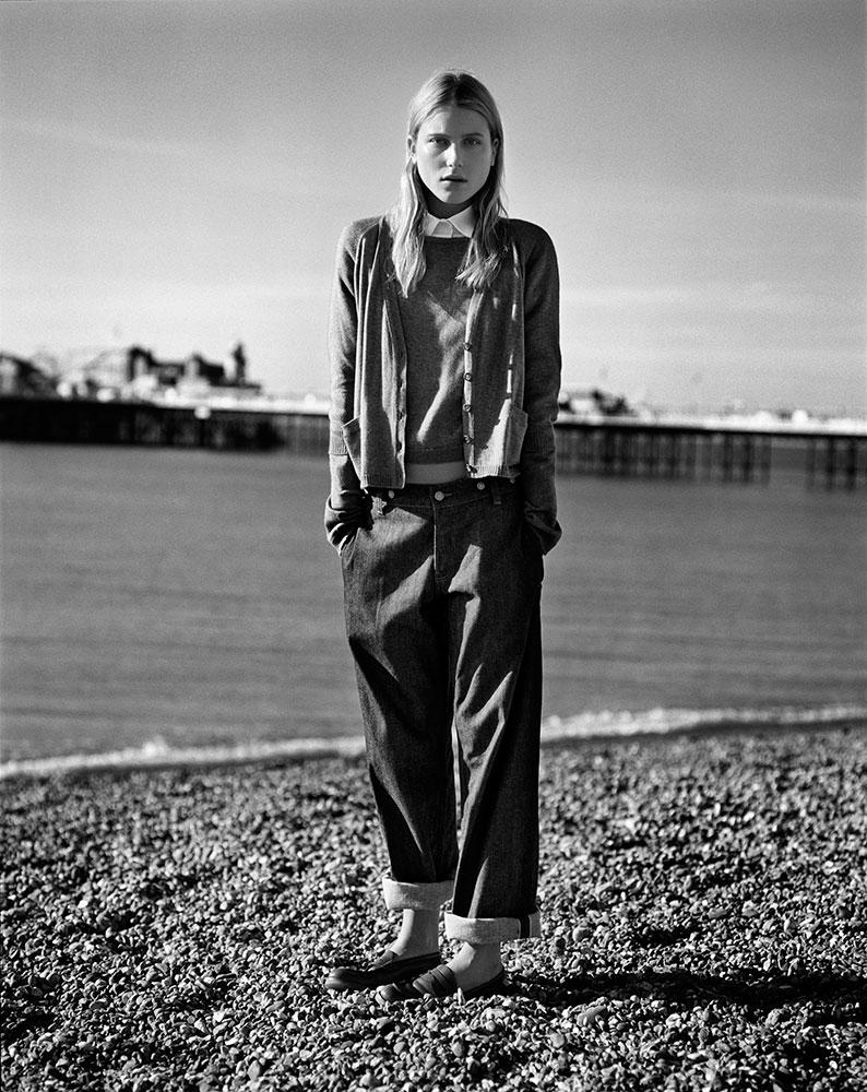 Dree Hemingway in Brighton by Alasdair McLellan for Margaret Howell SS11