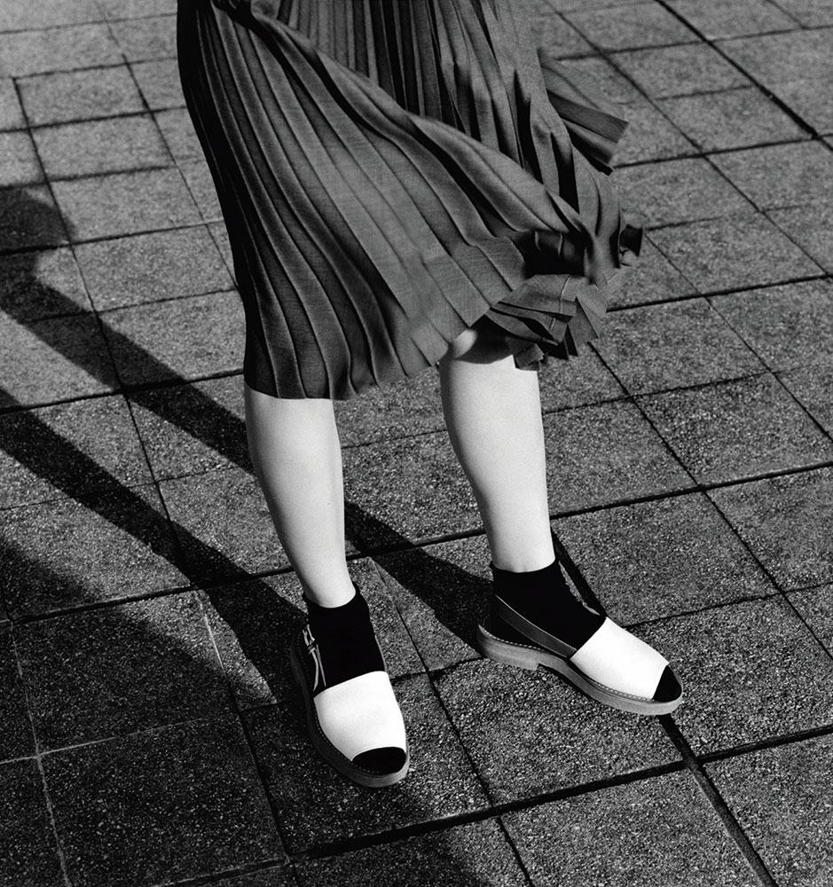 Julia Hafstom at The De La Warr Pavillion by Alasdair McLellan for Margaret Howell SS15