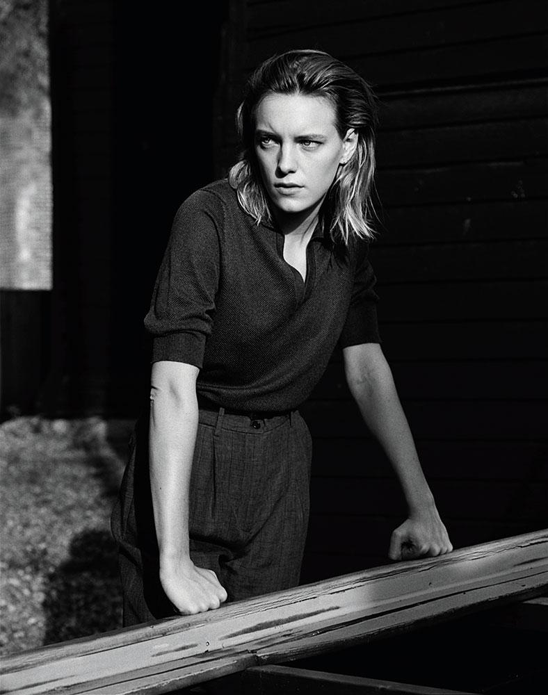 Erika Linder in Hastings by Alasdair McLellan for Margaret Howell SS17