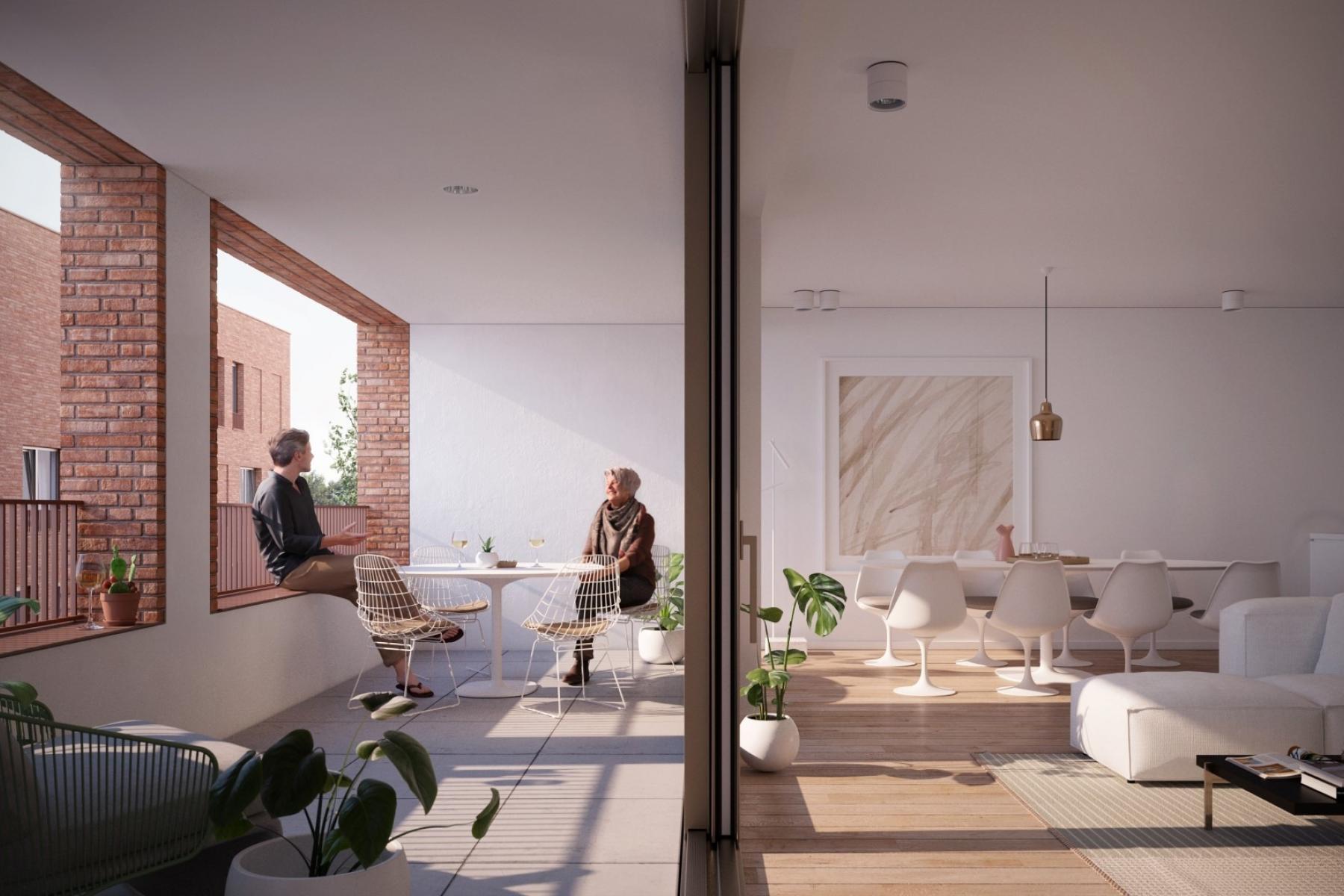 Revive Saffrou appartement te koop in Oudenaarde met ruim leefterras