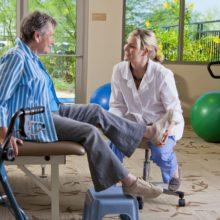 elderly women getting a medical checkup