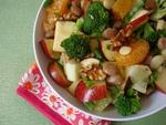 High Raw Food ~ Apple Broccoli Cucumber Salad