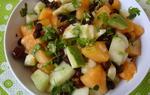 High Raw Food ~ Black chickpeas-Fruit Salad